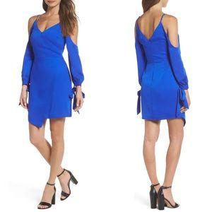 Adalyn Rae Electric Blue Asymmetrical Dress